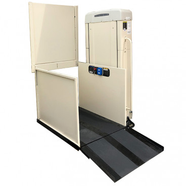 53 inch lifting height commercial wheelchair lift Right tower with 16 inch ramp toe plate