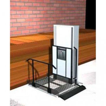 "Freedom 52"" Wheelchair Porch Lift for Home - Straight Right"