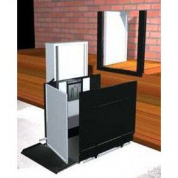 "Freedom 52"" Commercial Wheelchair Platform Lift - Straight Left"