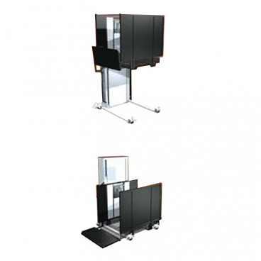 Portable Wheelchair Lifts for Churches & Public Buildings. 52 inch max lifting height. Left tower