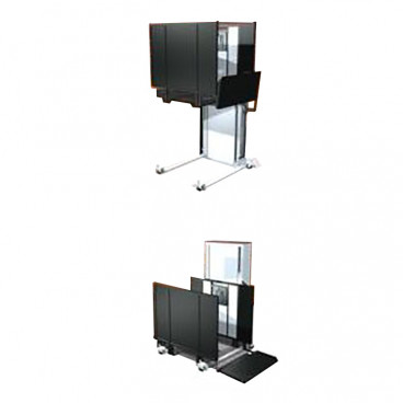 52 inch lift height Portable Stage Wheelchair Lift for schools, churches -right tower