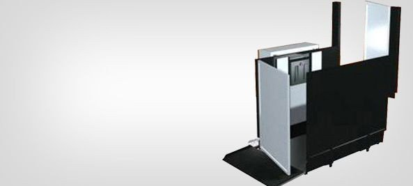 "28""-77"" Commercial Wheelchair Lifts - Freedom Lift Systems"