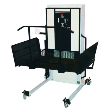 """52"""" Portable Wheelchair Lift for stages in schools - right access"""