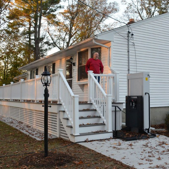 residential freedom wheelchair lift left porch for adjacent home lifts homes