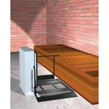 "Freedom 28"" Outdoor Wheelchair Lift for Home - Adjacent Left"