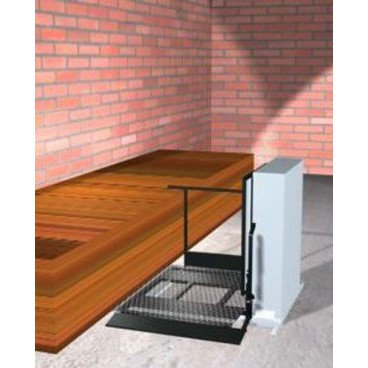 "Freedom 28"" Outdoor Wheelchair Lift for Home - Adjacent Right"