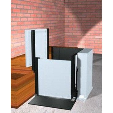 """Freedom 28"""" Commercial Wheelchair Platform Lift - Adjacent Right"""