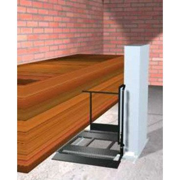 "Freedom 52"" Wheelchair Porch Lift for Home - Adjacent Right"