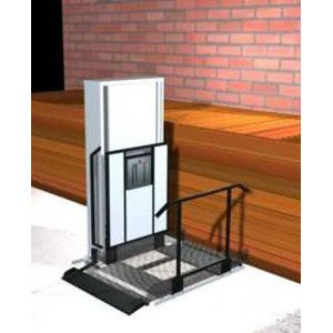 """Freedom 52"""" Wheelchair Porch Lift for Home - Straight Left"""