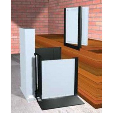 "Freedom 52"" Commercial Wheelchair Platform Lift - Adjacent Left"
