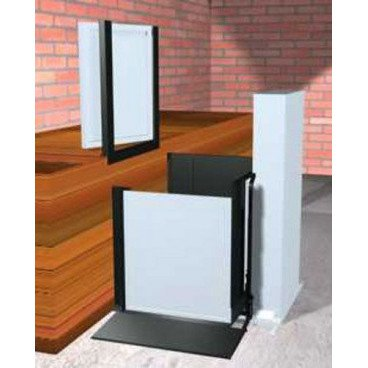 "Freedom 52"" Commercial Wheelchair Platform Lift - Adjacent Right Access"