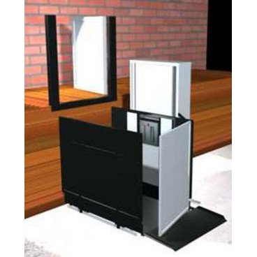 "Freedom 52"" Commercial Wheelchair Platform Lift - Straight Right"