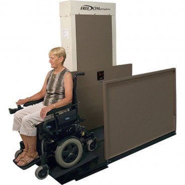 """77"""" Easy Ride Commercial Vertical Platform Lifts - Straight Left"""