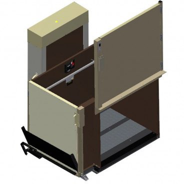 "53"" Easy Ride Commercial Vertical Platform Lifts - Adjacent Left"