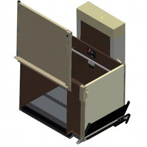 "53"" Easy Ride Commercial Vertical Platform Lifts - Adjacent Right"