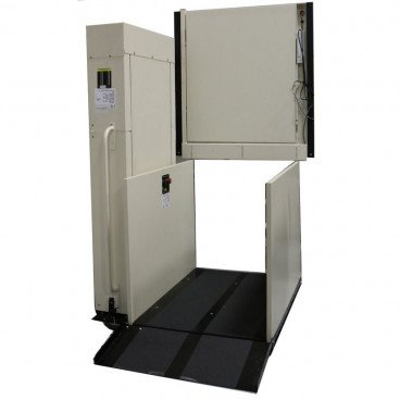 "53"" Straight Left Easy Ride Commercial Vertical Platform Lifts"