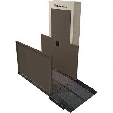 """53"""" Easy Ride Commercial Vertical Platform Lifts - Straight Right"""