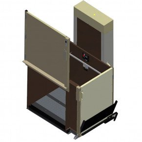 "77"" Easy Ride Commercial Vertical Platform Lifts - Adjacent Right"