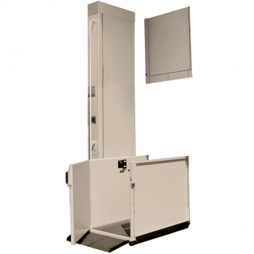 8 foot Easy Ride Residential Platform Lifts-Left straight access