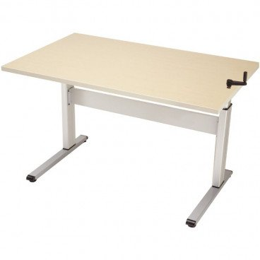 Accessible ADA table 48 inches wide with top mounted hand crank