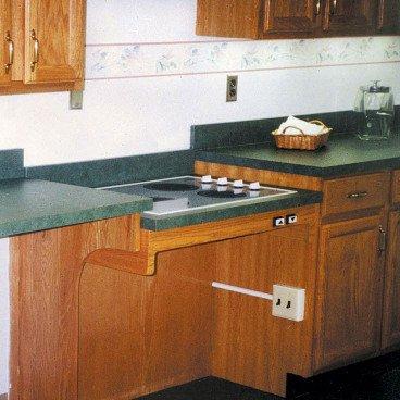 height adjustable cooktop