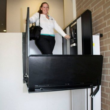 "52"" Straight Right Access Commercial Wheelchair Platform Lifts"