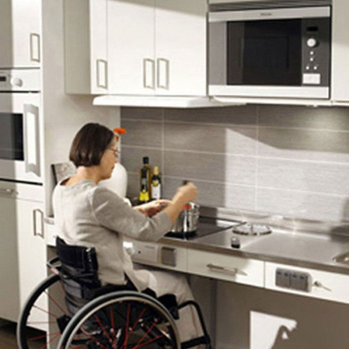 Baselift adjustable height counter lift 74 102 wide Kitchen design for elderly