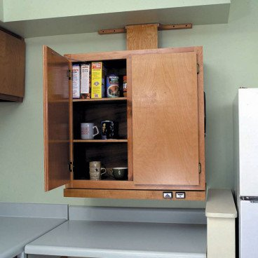 Approach Wall Cabinet Lift System - Handicap Accessible