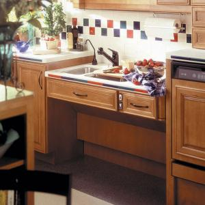 Approach adjustable sink lift system handicap accessible for Wheelchair accessible kitchen cabinets
