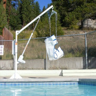 Freedom Residential Power Pool Lift over pool