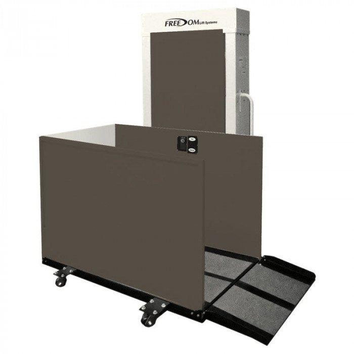 Portable Tall Wheelchair Platform Lift : Portable freedom vertical platform lift quot right access