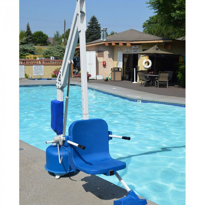 Ada compliant power pool lift commercial grade 375 lb capacity for Swimming pool lifting out of ground