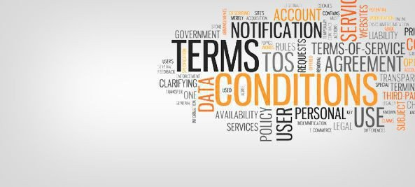 terms and conditions word cloud
